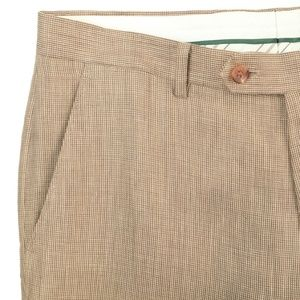 Lauren Ralph Lauren Pure Linen Brown Dress Pants